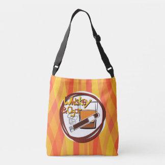 Illustration Wiskey and Cigar Crossbody Bag