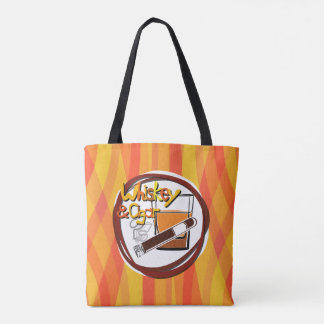 Illustration Wiskey and Cigar Tote Bag