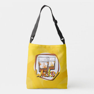 Illustration Wiskey on Ice Crossbody Bag