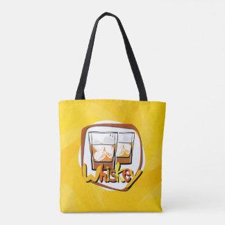 Illustration Wiskey on Ice Tote Bag