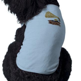illustration with gramophone dog t-shirt