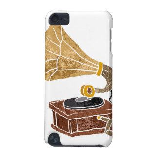 illustration with gramophone iPod touch (5th generation) cases