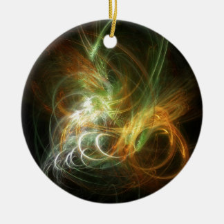 illustration with high detail and vibrant colors round ceramic ornament