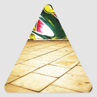 illustration with high detail and vibrant colors triangle sticker