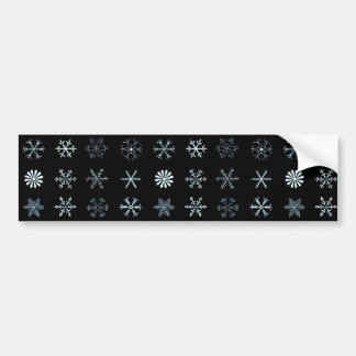 Illustrations of Snowflakes Bumper Sticker