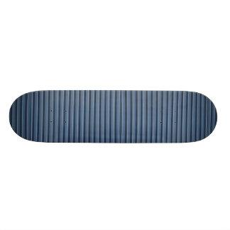 Illustrative Blue aluminum siding Skate Boards