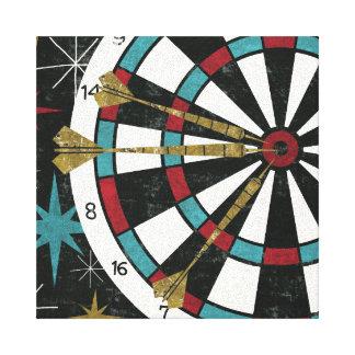 Illustrative Dart Board Canvas Print