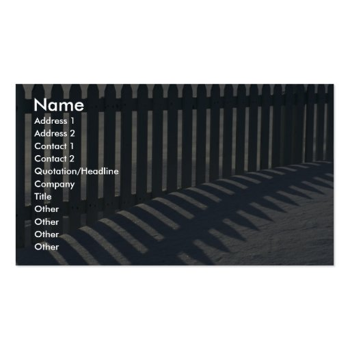 Illustrative Fence and shadow Business Card Templates