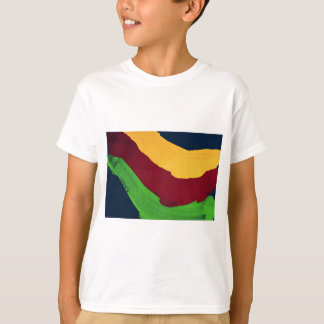 Illustrative Multi-colored paint run - yellow, red T-Shirt