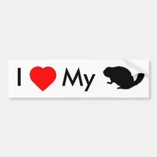 ILove my Beaver Bumper Sticker