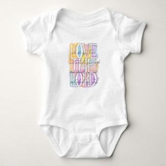 ILOVE THE LORD- Luke 10:27 Baby Bodysuit