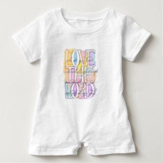 ILOVE THE LORD- Luke 10:27 Baby Romper