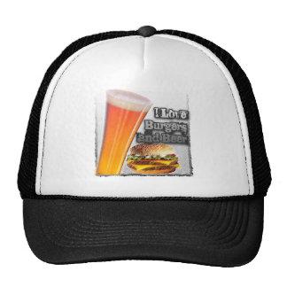 ILoveBurgersandBeer Tall One Trucker Hat