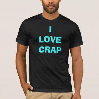 ILOVECRAP    aqua on black T-Shirt