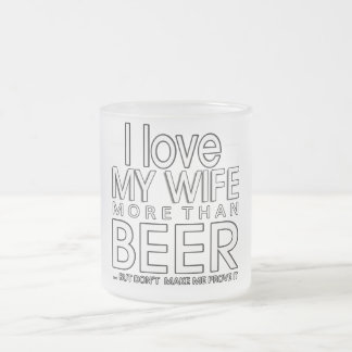 ilovemywife frosted glass coffee mug