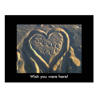 Iloveyou, Wish you were here! Postcard