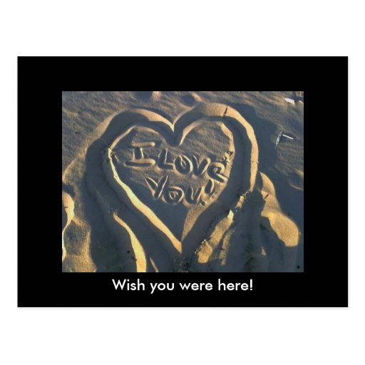Iloveyou, Wish you were here! Postcards
