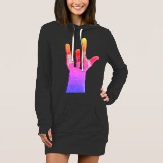 ILY Graphic Hoodie Dress