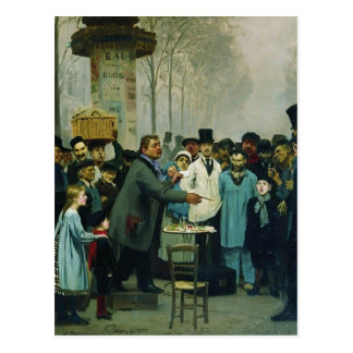 Ilya Repin- A Newspaper Seller in Paris Postcard