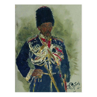 Ilya Repin- General in the form of royal guards Postcard