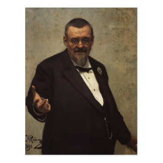 Ilya Repin- Portrait of Lawyer Vladimir Spasovitch Postcard