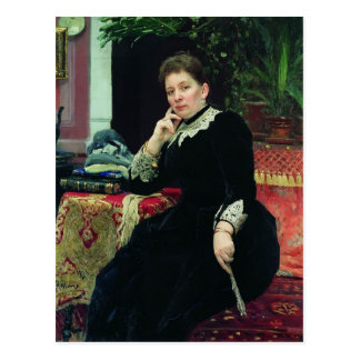 Ilya Repin-Portrait of philanthropist Olga Postcard