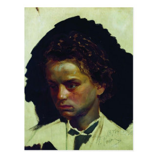 Ilya Repin- Portrait of sculptor Ilya Yakovlevich Postcard