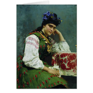 Ilya Repin- Portrait of Sophia Dragomirova Card