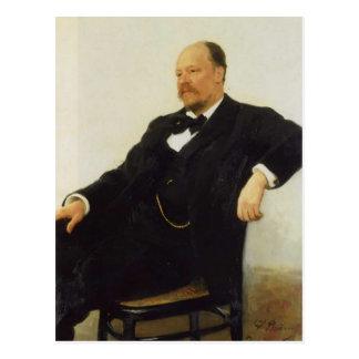 Ilya Repin-Portrait of the composer Anatoly Lyadov Postcard