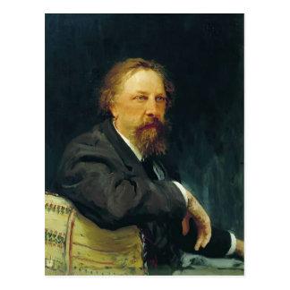 Ilya Repin- Portrait of the writer Aleksey Tolstoy Postcard