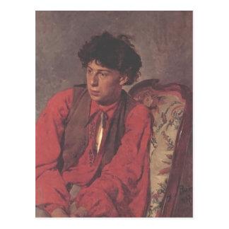 Ilya Repin- Portrait of V. E. Repin Postcard