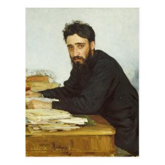 Ilya Repin- Portrait of writer Vsevolod Garshin Postcard