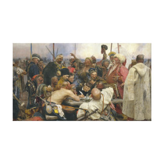 Ilya Repin Reply of the Zaporozhian Cossacks Canvas Print