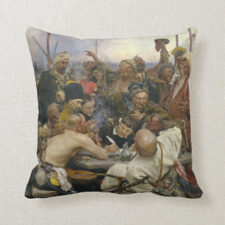 Ilya Repin Reply of the Zaporozhian Cossacks Throw Pillow