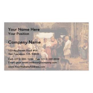 Ilya Repin- Send off of recruit Business Card Templates