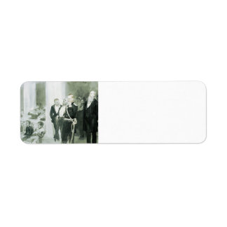 Ilya Repin-The Concert in the Assembly of Nobility Return Address Label