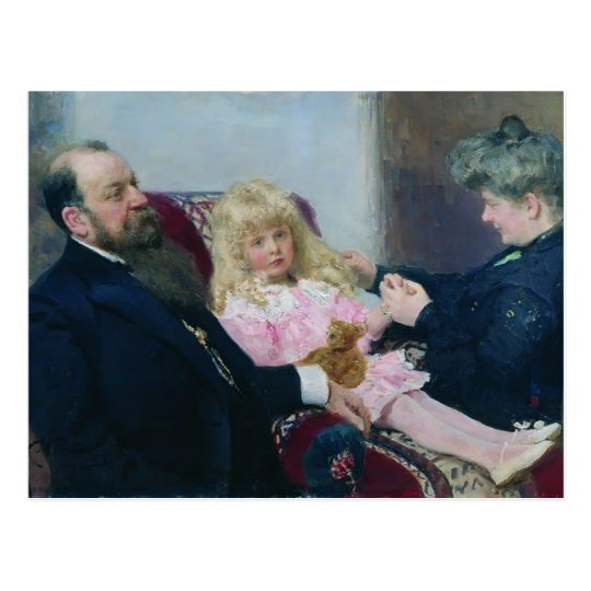 Ilya Repin- The Delarov Family Portrait Postcard