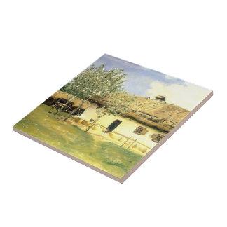 Ilya Repin- Ukrainian peasant house Tile