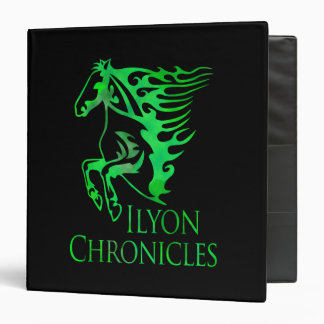 Ilyon Chronicles Green Horse 3 Ring Binder