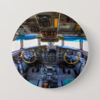 Ilyushin IL-18 Cockpit 3 Inch Round Button