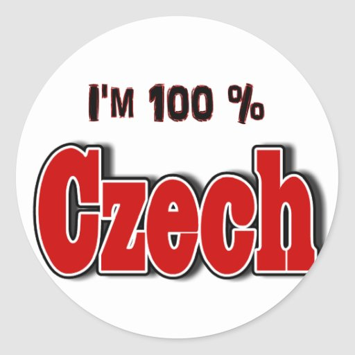 I'm 100 Percent Czech Round Sticker
