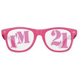 I'm 21 - 21st Birthday Party Glasses Gag Gift Party Shades