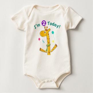 I'm 2 Today Toddler's 2nd Birthday Baby Bodysuit