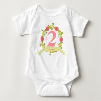 I'm 2 Wreath Custom Baby Jersey Bodysuit