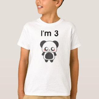 I'm 3 Panda T-shirts