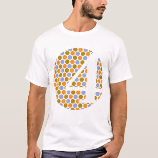 I'm 4! Polka Dottin White/Orange T-Shirt