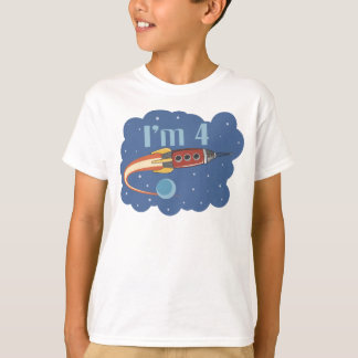 I'm 4 Rocketship Birthday T-shirt