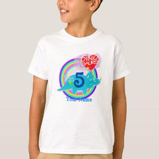 I'm 5 - 5th Birthday Celebration Blue Dino T-Shirt