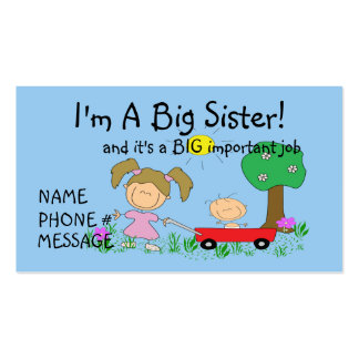 I'm  A BIG Sister Calling Card Business Cards