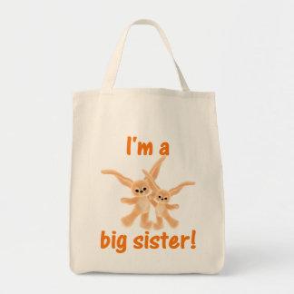 I'm a big sister (orange bunnies) bags